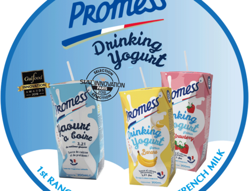 Lact'Union launches Promess Ambient drinking yoghurt in two flavours 21.10.2019